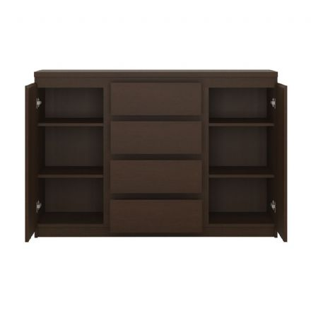 Pello 2 Door 4 Drawer Sideboard in Dark Mahogany